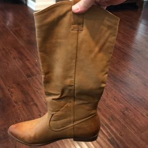 Cathy Jean light brown knee high boots